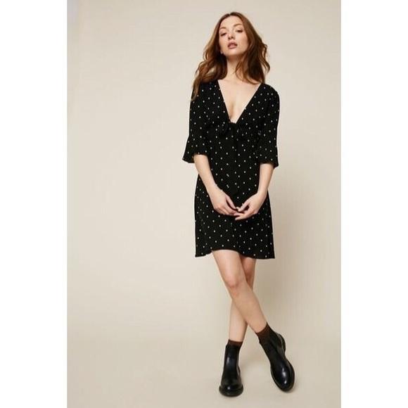 fce43825a6dd3 NWT Free People All Yours Mini Dress Polka Dot